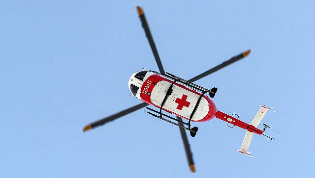 Ребенка, пострадавшего в ДТП в Москве, доставили в больницу вертолетом