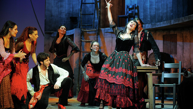 Репетиция мюзикла Zorro в театре Московский дворец молодежи