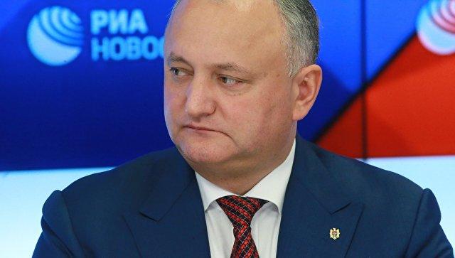 Президент Молдавии Игорь Додон. Архивное фтоо