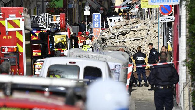 Службы безопасности на месте обрушения жилого дома, Марсель. 5 ноября 2018