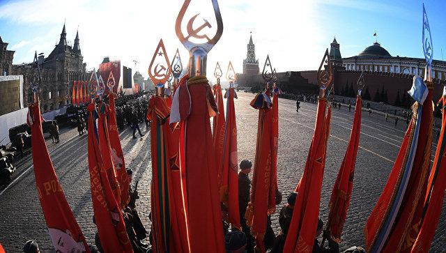 Генеральная репетиция марша, посвященного 77-летию военного парада 1941 года. 4 ноября 2018