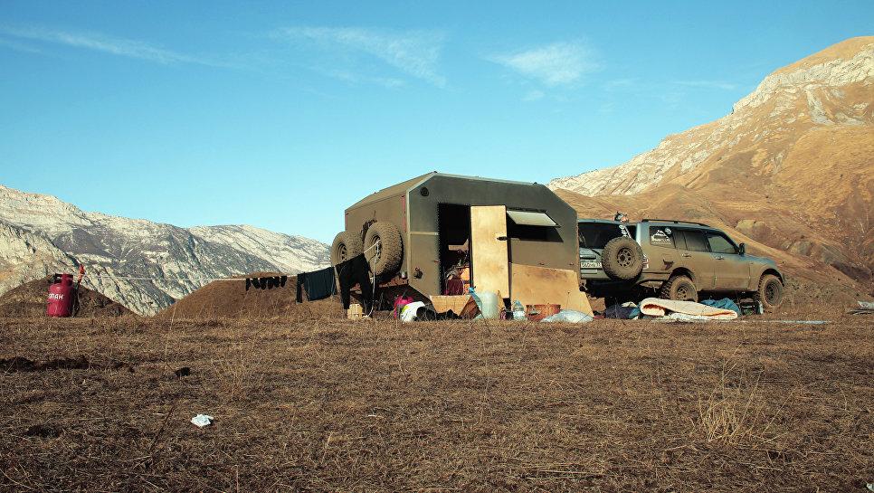 Генеральная уборка в горах Осетии.