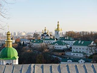 Киево-Печерская лавра в Киеве, Украина. 1 ноября 2018