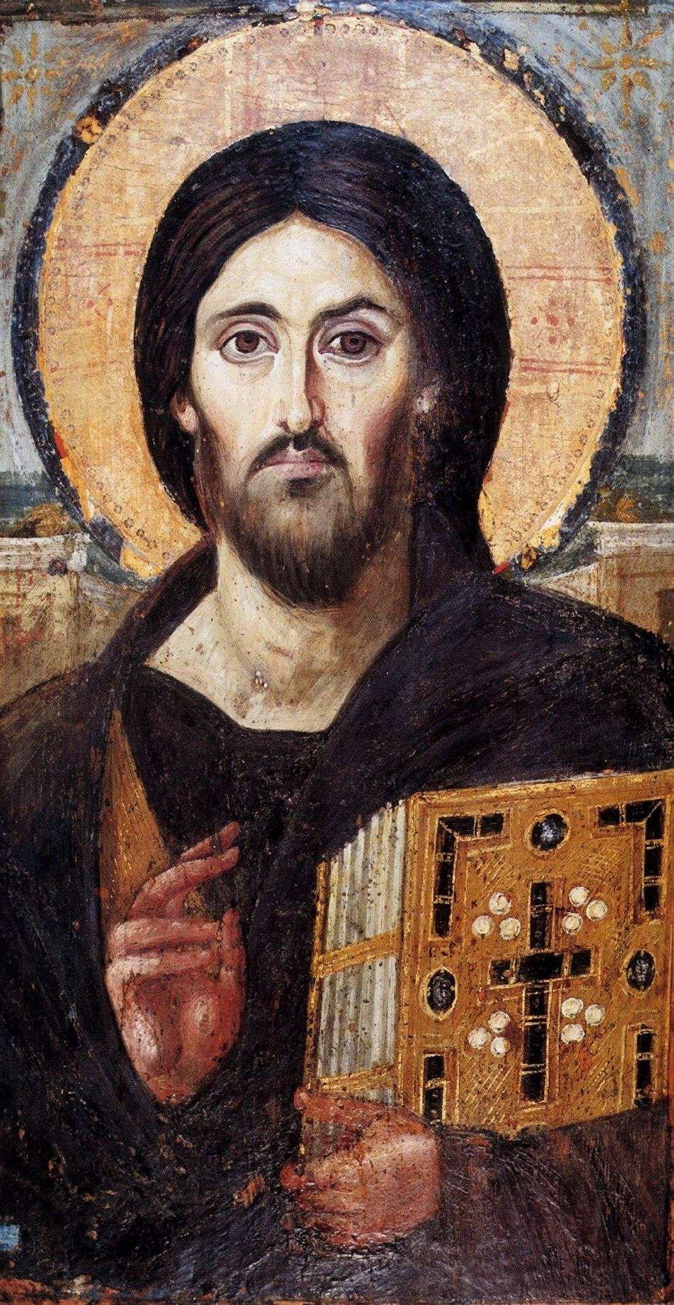 Энкаустическая икона Христос Пантократор из Синайского монастыря