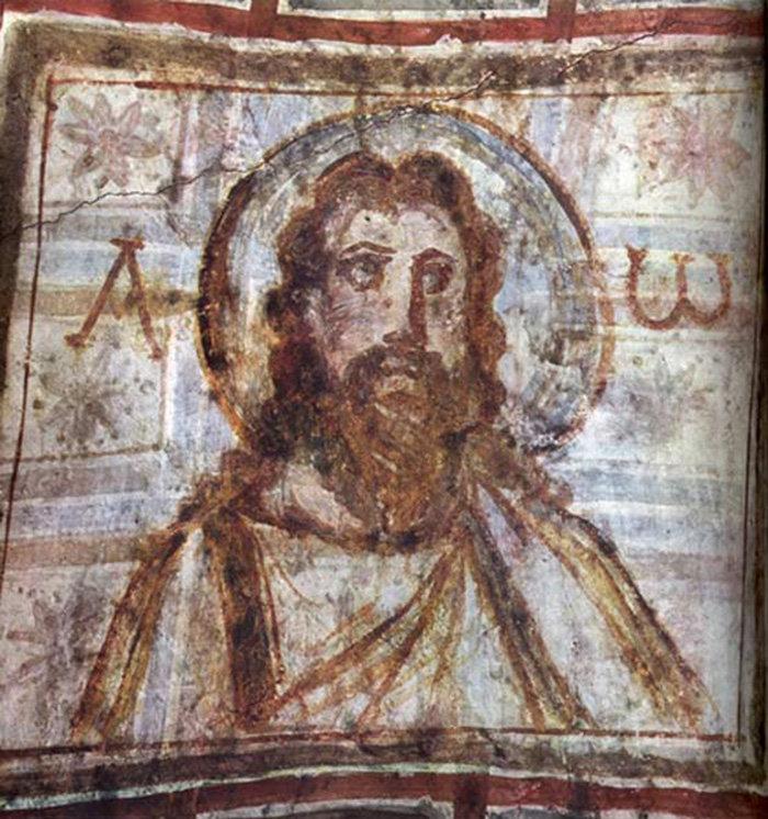 Фреска из катакомб святой Коммодиллы в Риме
