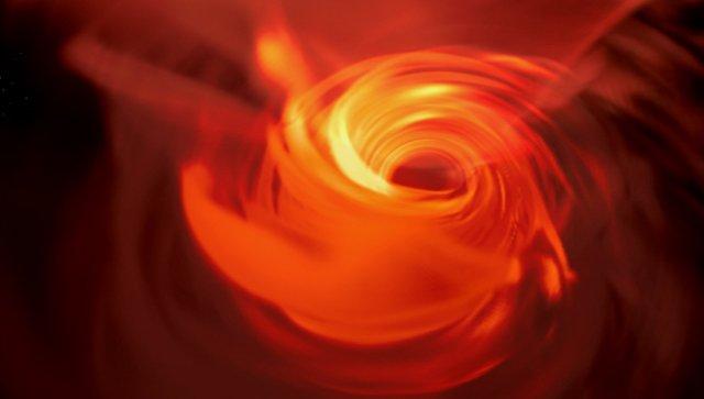 Астрономы показали вируальную симуляцию сверхмассивной черной дыры