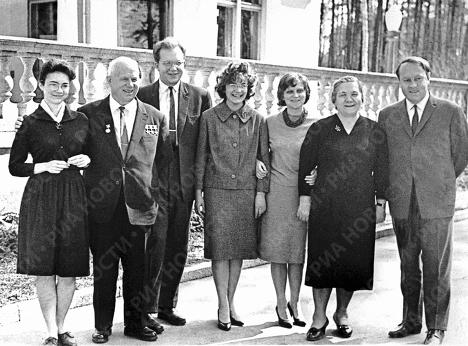 Н.Хрущев с семьей