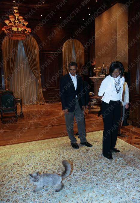 Президент США Барак Обама с супругой Мишель в подмосковной резиденции Горки