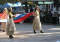 Российский флаг на площади Трех адмиралов