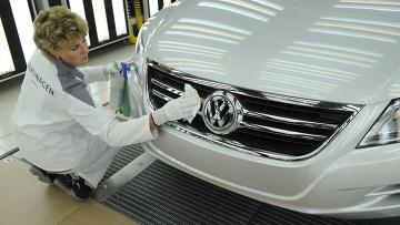Запуск производства полного цикла на заводе Volkswagen Group Rus в Калуге. Архив