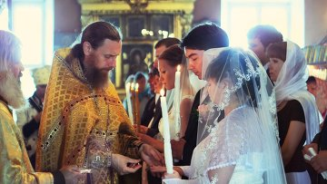 Венчание, архивное фото