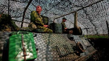 Тактические учения мотострелковой бригады. Архивное фото