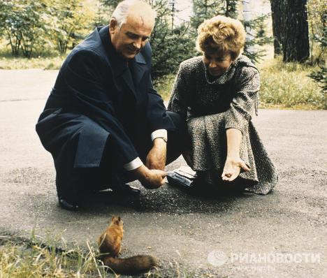 Михаил Сергеевич Горбачев с супругой