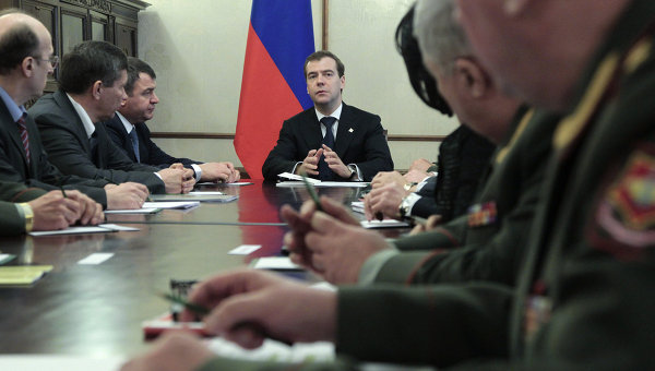Встреча Дмитрия Медведева с руководством минобороны РФ