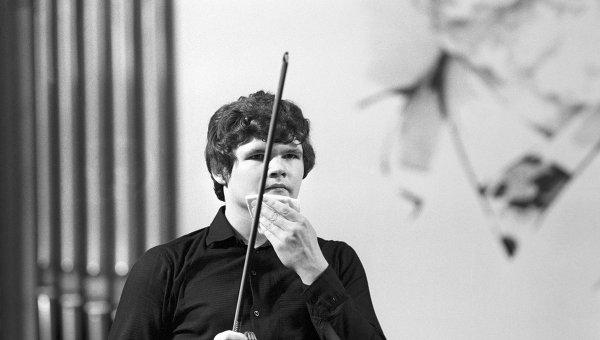 Скрипач и дирижер Сергей Стадлер, 1982 год