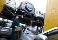 Проверка на радиацию машин, поступающих из Японии