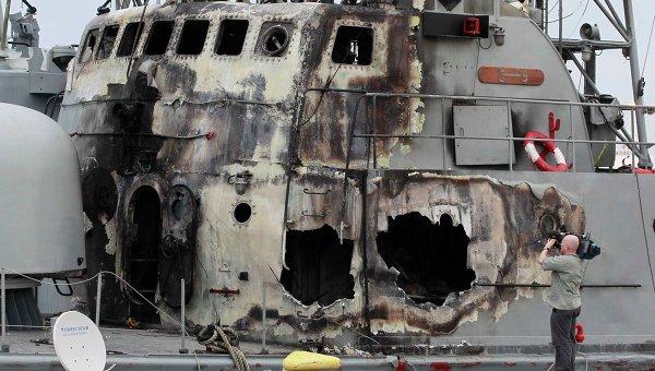 Последствия авиаударов сил НАТО по порту Триполи