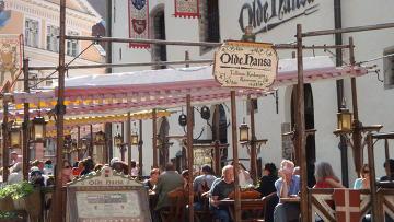 Таллин. Olde Hansa – популярный туристический ресторан