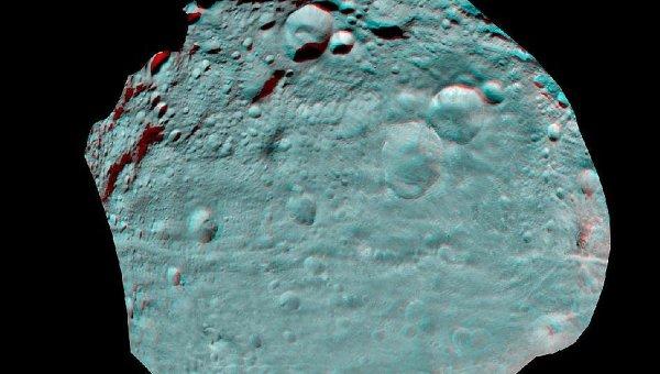 Стереоскопический снимок астероида Веста, сделанный зондом Dawn