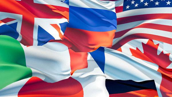 Флаги стран Большой Восьмерки