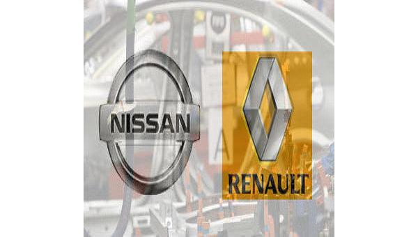 Логотипы компаний Nissan и Renault