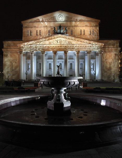 Подсветка здания Большого театра