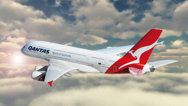 Аэробус А380 авиакомпании Qantas, архивное фото