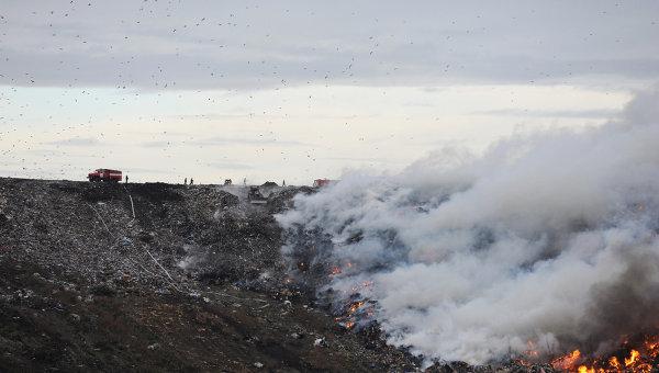 ВГосЧС считают поджоги основной предпосылкой пожаров наукраинских свалках