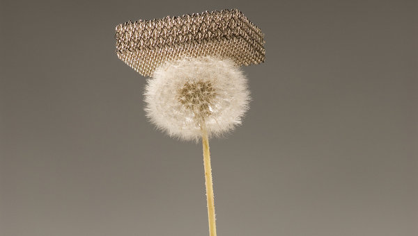 Металлическая губка Шедлера и его коллег на 25% легче воздуха