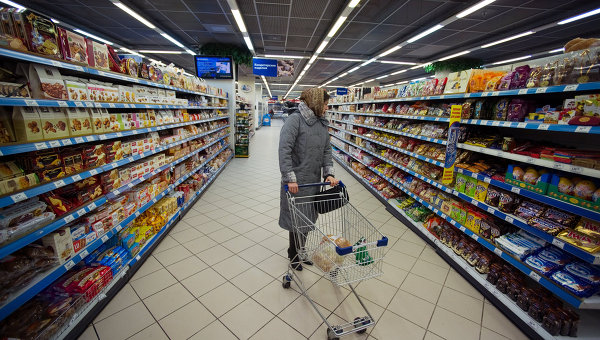 Работа супермаркета. Архивное фото