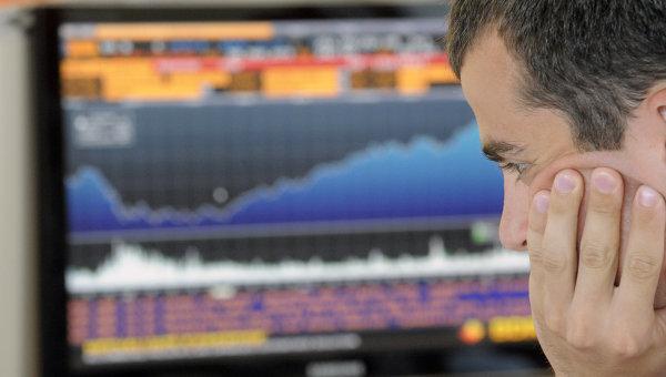 Работа нового офиса фондовой биржи РТС. Архивное фото