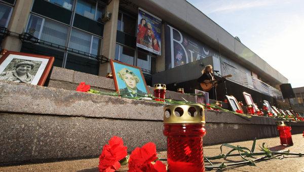 Митинг памяти жертв теракта в Театральном центре на Дубровке