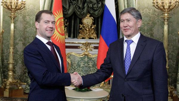 Встреча Д. Медведева и А. Атамбаева в Кремле