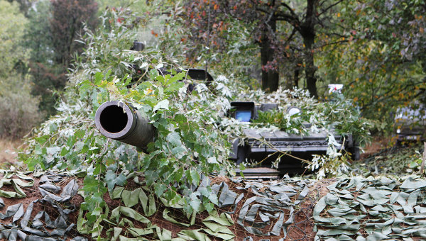 Танк Т-80 на российско-белорусских учениях Щит Союза. Архивное фото