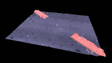 Экспериментальный прототип одноатомного транзистора из атома фосфора на кремниевой подложке