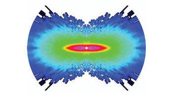 Фотография молекулы кислорода, полученная при помощи атомного фотоаппарата