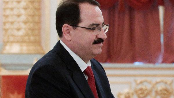 Чрезвычайный и Полномочный Посол Сирийской Арабской Республики в РФ Риад Хаддад, архивное фото