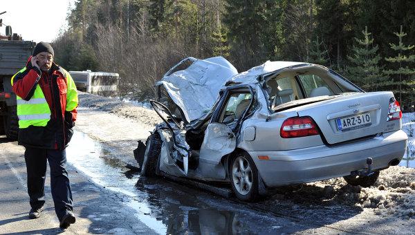 Авария на трассе Скандинавия в Ленинградской области. Архивное фото