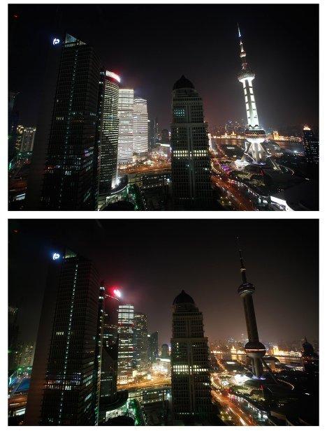 Акция Час Земли в Шанхае, Китай
