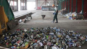 Работа мусороперерабатывающего завода. Архивное фото