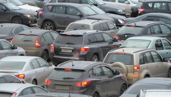 Автомобильная пробка. Архив