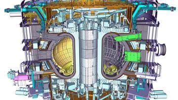Схема международного термоядерного экспериментального реактора ИТЭР (ITER). Архив