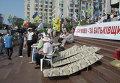 Акции в защиту украинского языка возле Украинского дома на Европейской площади в Киеве