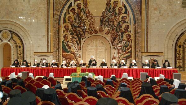 Архиерейский собор Русской православной церкви в храме  Христа Спасителя