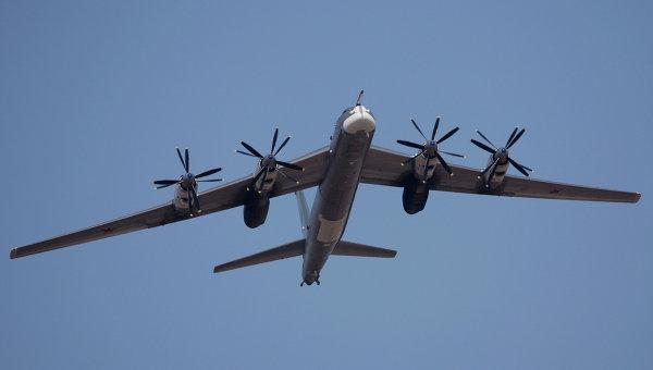 Тяжелый бомбардировщик-ракетоносец Ту-95МС. Архивное фото