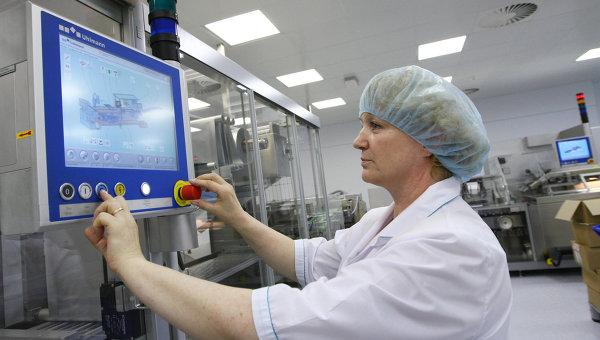 Завод по производству отечественной вакцины против гриппа Гриппол плюс в Подмосковье