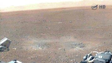 Первые цветные кадры марсианской пустыни от Curiosity