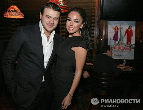 Лейла Алиева и Эмин Агаларов на премьере комедии режиссера Марюса Вайсберга Любовь в большом городе