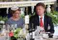 Председатель правления ОАО Газпром Алексей Миллер на скачках на приз президента РФ