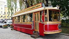 Информационный трамвай в Киеве
